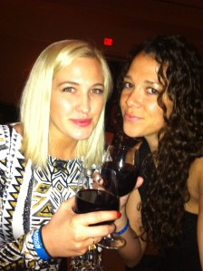 Lindi and Liz...and red wine. #duh