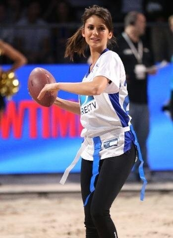 Nina Dobrev Celebrity Beach Bowl 2013