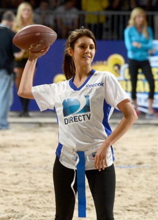 Nina Dobrev Celebrity Beach Bowl 2013