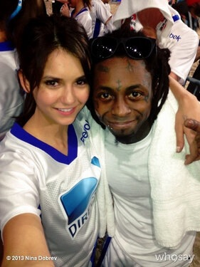 Nina Dobrev & Lil Wayne Celebrity Beach Bowl 2013