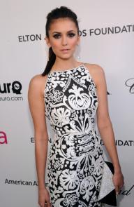 Nina Dobrev 2013 Elton John Oscar Party