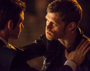 "Klaus: ""I love you, man."" Elijah: ""No, bro, I love YOU."""